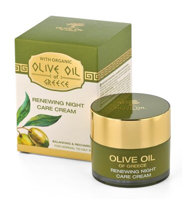 Renewing night care cream for normal to oily skin Olive Oil of Greece 50 ml